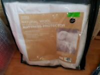 RRP £40 M&S natural wool mattress protector cover