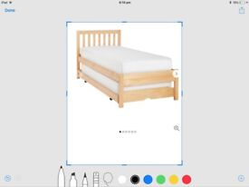 John Lewis bed with under guest bed with mattresses