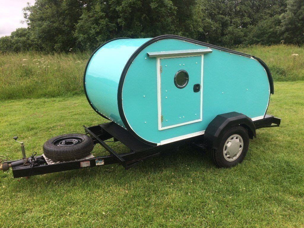 Teardrop Caravan Retro Style Camping Pod Tow With VW Camper GBP1495