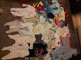 Used baby clothes 0-3 months for boy very good condition only £15