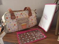 Pink Lining Yumny Mummy Changing Bag Pansies