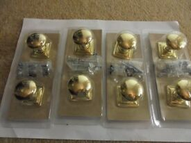 A BOX OF 20 Packs B & Q Plate Handles Brass Finish (2 per pack)