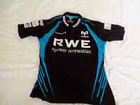 Ospreys rugby shirt top size medium rwe npower worn once