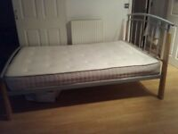 Quick Sale - Cot with Double Mattress (Cooltouch Brand)