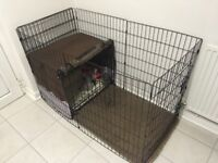 Second Hand Dog Crate & Cover, Puppy Pen, Travel Pen