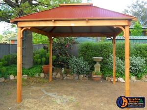 Timber Lifestyle Gazebo Kit - 3.0 X 3.0 metre - Colourbond Roof Unanderra Wollongong Area Preview