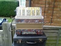 Old pietro accordion case + straps