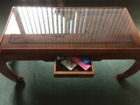 Coffee Table glass topped