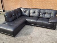 Great large black leather corner sofa, 1 month old. clean and tidy. can deliver