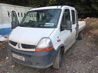 Renault master crew cab flatbed 57reg