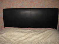 Headboard for double (4ft 6in) bed, faux leather