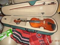 VIOLIN IN CASE AS NEW
