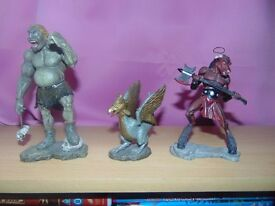 collection of beast and beings figures