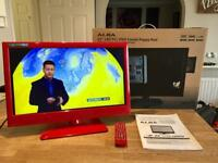 """Immaculate 22"""" full hd led tv/dvd combo"""