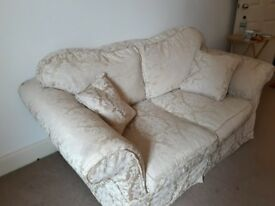 Comfy two seater sofa WITH washable matching cushions