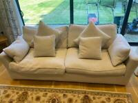 Sofa Workshop White Caruso 3 Seater Sofa