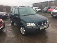 AUTOMATIC HONDA CRV FULL SERVICE HISTORY CAMBELT CHANGED AT 91k 4 NEW TYRES IN VGC AIR CON ALLOYS CD