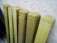 NEWELS FOR THE GARDEN PATIO - 6 TOTAL