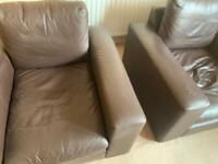 Leather armchairs free to good home