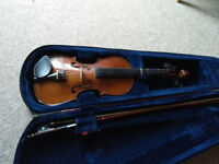 Stentor 7/8 student violin with case and bow