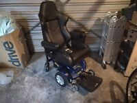 Powerchair electric wheelchair with programming computer