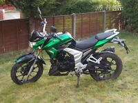 LEXMOTO VENON 125. GOOD CONDITION, ONLY 1200 MILES. 2 SERVICE STAMPS