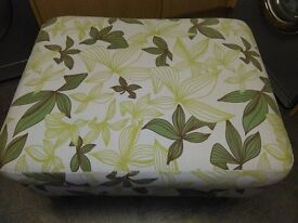 LARGE DOUBLE PADDED FOOTSTOOL / POUFFE SIZ IS 32 X 26 X 17 HIGH