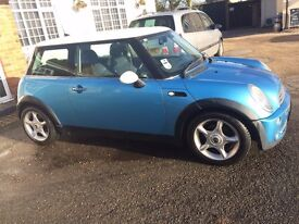 Blue Mini Cooper 1.6 Petrol (Very Low Mileage, 2/3 lady owners)