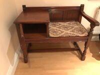 Old charm oak telephone table