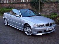 EXCELLENT SPEC!! 51 REG BMW 3 SERIES 2.5 325Ci CONVERTIBLE SPORT 2dr AUTO, FULL LEATHER, 1 YEARS MOT
