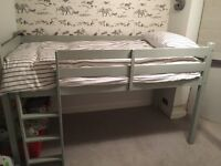 Midi height Cabin bed - single 3ft painted Farrow and ball