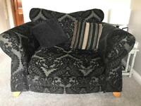 Black Cuddler Chair