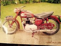 Classic Motorbike - Triumph 500 Speed Twin. Immaculate condition. Ex Dorset police.