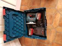 Bosch cordless jigsaw with wireless charging battery