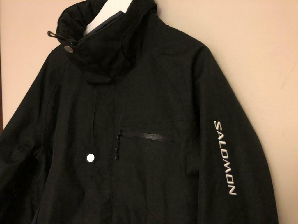 cd7a9052c3aa Black Salomon Ski Jacket Coat