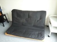 Double futon, black mattress