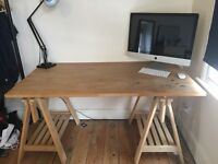 SOLID WOOD TRESTLE TABLE - £70