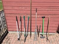Variety of garden tools