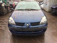 2002 Renault Clio Expression 16V 5dr Hatchback 1.2L Petrol Blue BREAKING FOR SPARES