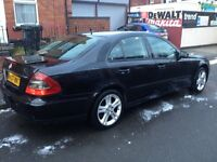 MERCEDES E220 CDI, 2007, SATNAV, ALLOYS, LEATHERS, STARTS AND DRIVES, GOOD FOR EXPORT, CHEAP CAR