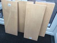 4 wood effect shelves