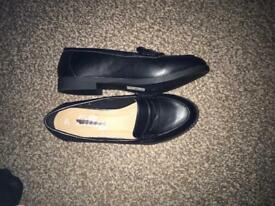 Black Slip on Work Shoes