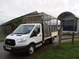 FORD TRANSIT 2.2 T350 NEW SHAPE DRW EX FRAME DROPSIDE WITH REFUGE CAGE SPLIT COMPARTMETS 125 BHP