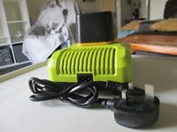 Brand new 18v Ryobi battery charger and a brand new 18v Ryobi battery