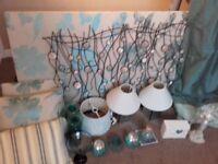 Blue bedroom/living room furnishings/ornament/lighting bundle