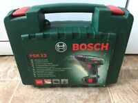 DRILL Bosch PSR 12 Cordless NiCad Drill Driver with 2 x 12 V Batteries, 1.2 Ah