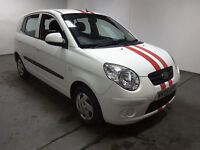 2009(09)KIA PICANTO 1.0 12V WHITE,VERY LOW MILES,£30 TAX,CLEAN CAR,GREAT VALUE