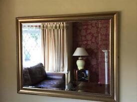 Gold gilt mirror