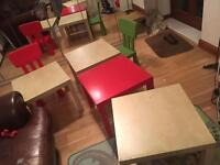 Children's/ kids table and chair - Ikea Lack