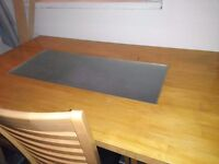 Dining table with glass centre 4 chairs